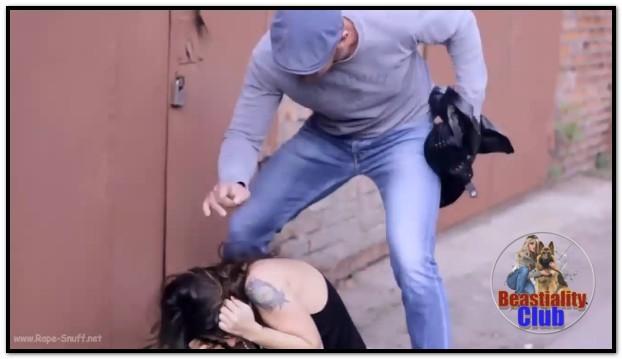 009 - Russian Brunette Raped Outside Her Garage
