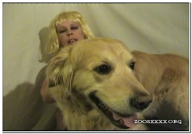 Blonde Mouth Fucked Dog