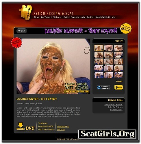 Shit Eater 1 - Louise Hunter - Hightide Video Productions